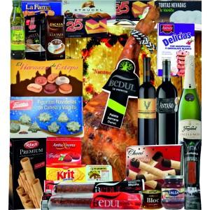 LOTE JAMONERO  NAVIDAD Con Vinos y Cavas  Nº V 205