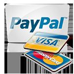 Logotipo de Paypal y Tarjetas de credito